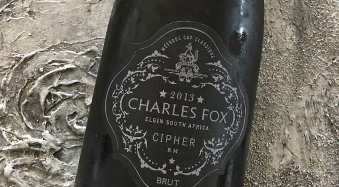 2013 Charles Fox Cap Classique Estate, Cipher, Western Cape, Sydafrika
