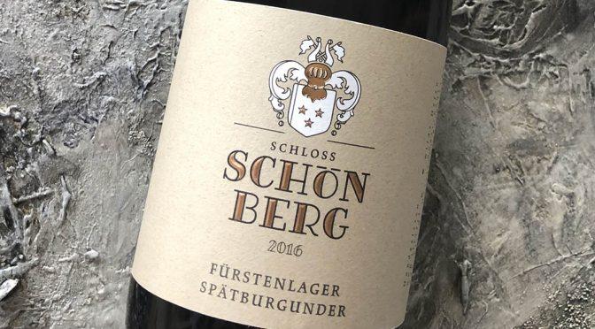 2016 Weingut Schloss Schönberg, Auerbacher Fürstenlager Spätburgunder, Hessiche Bergstrasse, Tyskland
