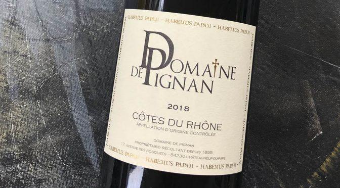 2018 Domaine de Pignan, Côtes du Rhône, Rhône, Frankrig