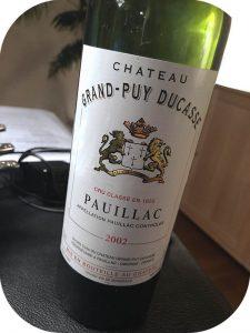 2002 Château Grand-Puy Ducasse, Pauillac 5. Grand Cru Classé, Bordeaux, Frankrig