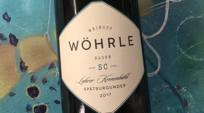 2017 Weingut Wöhrle, Lahrer Kronenbühl Spätburgunder Selection Carl, Baden, Tyskland