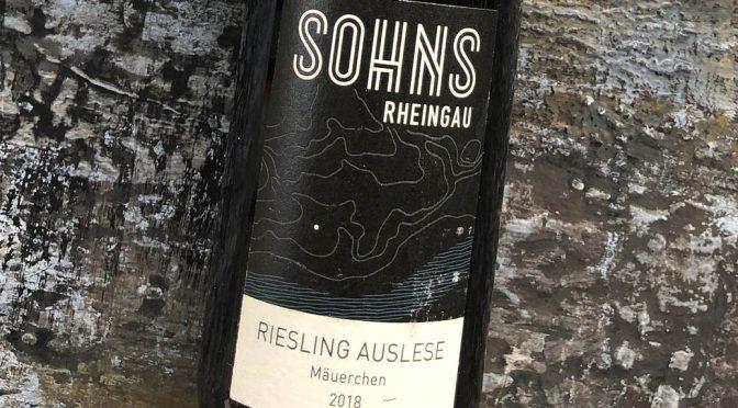 2018 Weingut Sohns, Geisenheimer Mäuerchen Riesling Auslese, Rheingau, Tyskland