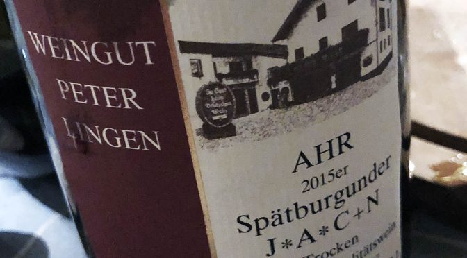 2015 Weingut Peter Lingen, Spätburgunder J*A*C+N, Ahr, Tyskland