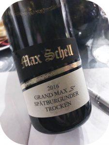 2016 Weingut Max Schell, Grand Max S Spätburgunder, Ahr, Tyskland