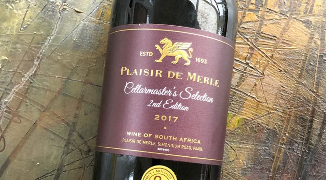2017 Plaisir de Merle, Cellarmaster's Selection 2nd Edition, Western Cape, Sydafrika
