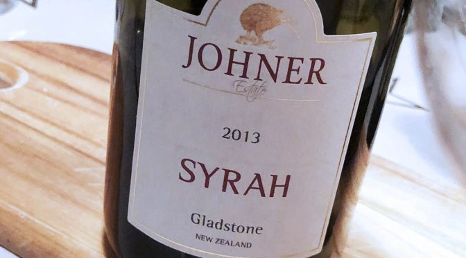 2013 Johner Estate, Gladstone Syrah, Wairarapa, New Zealand