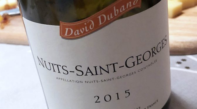 2015 David Duband, Nuits-Saint-Georges, Bourgogne, Frankrig