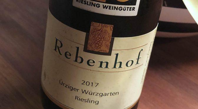 2017 Weingut Rebenhof, Ürziger Würzgarten Riesling GG, Mosel, Tyskland
