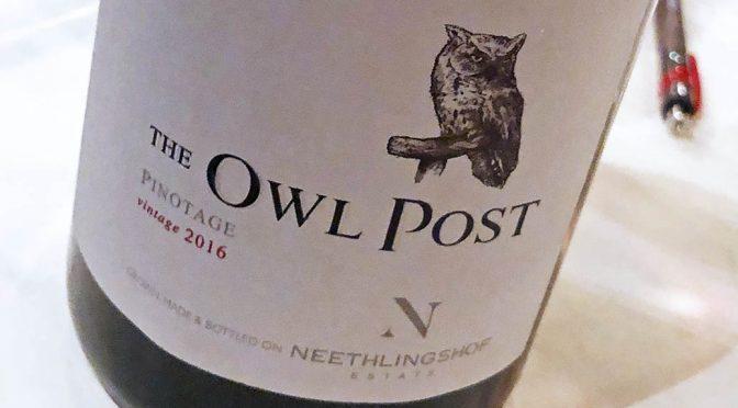 2016 Neethlingshof, The Owl Post Pinotage, Stellenbosch, Sydafrika
