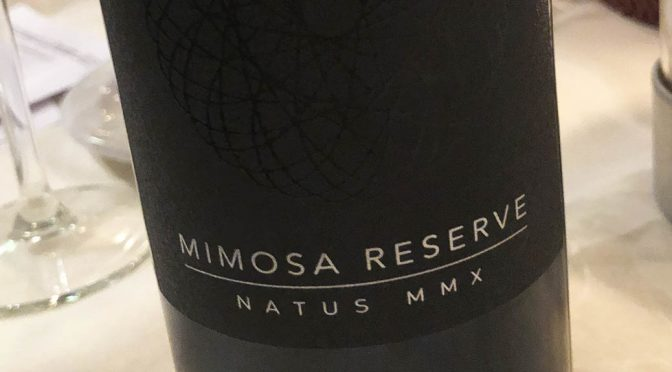 2015 Mimosa Wines, Natus MMX Reserve, Western Cape, Sydafrika