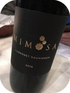 2016 Mimosa Wines, Cabernet Sauvignon, Western Cape, Sydafrika