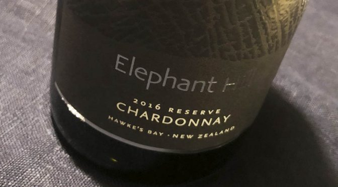 2016 Elephant Hill, Reserve Chardonnay, Hawkes Bay, New Zealand