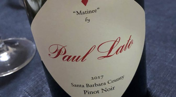 2017 Paul Lato Wines, Matinee Pinot Noir, Californien, USA