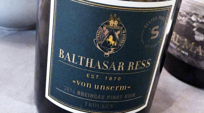 2016 Weingut Balthasar Ress, Von Unserm S Rheingau Pinot Noir, Rheingau, Tyskland
