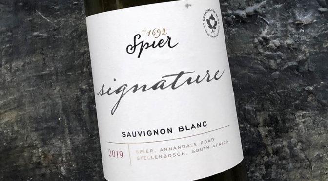 2019 Spier Wines, Signature Sauvignon Blanc, Stellenbosch, Sydafrika