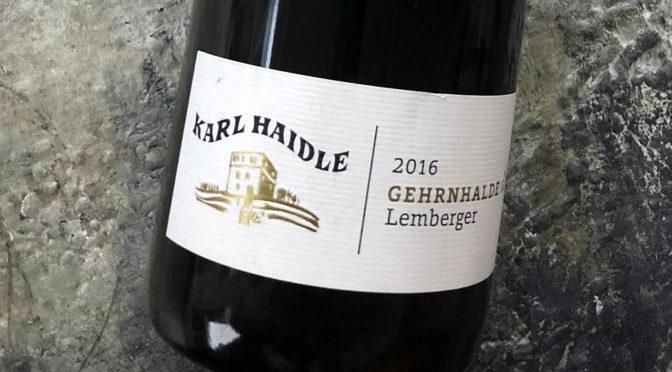 2016 Weingut Karl Haidle, Stettener Mönchberg Gehrnhalde Lemberger GG, Württemberg, Tyskland
