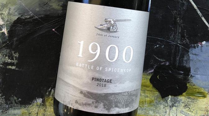2018 Spioenkop Wines, 1900 Battle of Spioenkop Pinotage, Elgin, Sydafrika