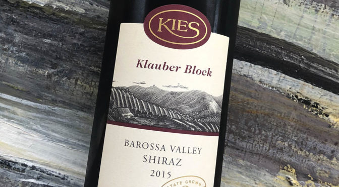 2015 Kies Family Wines, Klauber Block Shiraz, Barossa Valley, Australien
