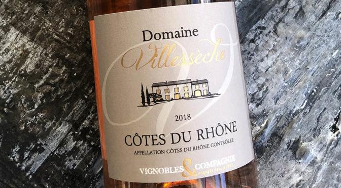 2018 Vignobles & Compagnie, Domaine Villesèche Côtes du Rhône Rosé, Rhône, Frankrig