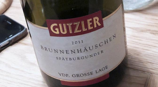 2011 Weingut Gutzler, Westhofener Brunnenhäuschen Spätburgunder GG, Rheinhessen, Tyskland