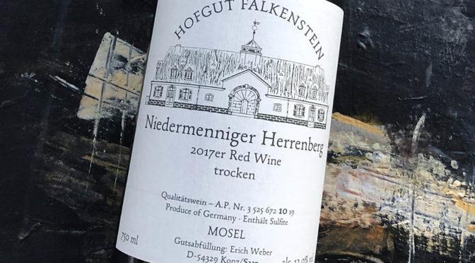 2017 Hofgut Falkenstein, Niedermenniger Herrenberg Red Wine Trocken, Mosel, Tyskland