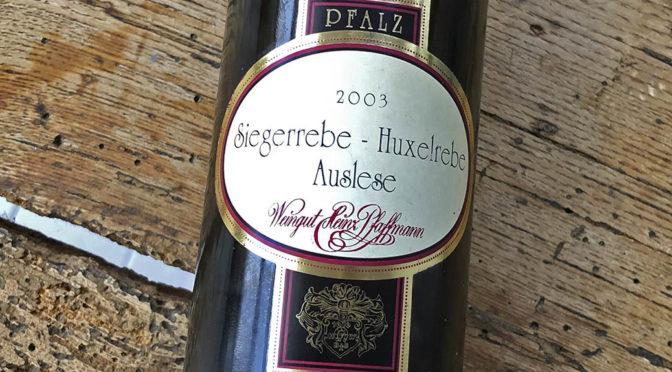 2003 Weingut Heinz Pfaffmann, Nußdorfer Bischofskreuz Siegerrebe Huxelrebe Auslese, Pfalz, Tyskland