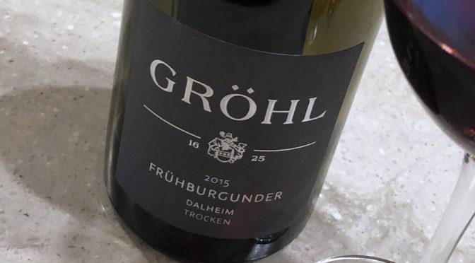 2015 Weingut Gröhl, Dalheimer Frühburgunder Trocken, Rheinhessen, Tyskland