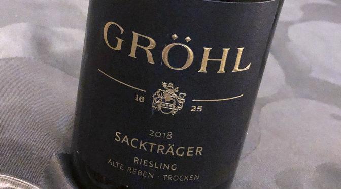 2018 Weingut Gröhl, Oppenheimer Sackträger Riesling Alte Reben Trocken, Rheinhessen, Tyskland