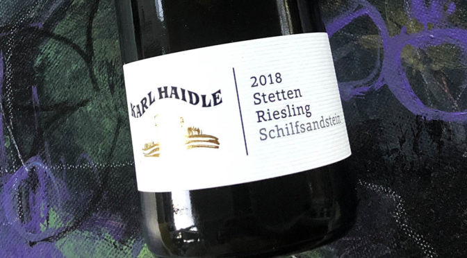 2018 Weingut Karl Haidle, Stetten Riesling Schilfsandstein, Württemberg, Tyskland