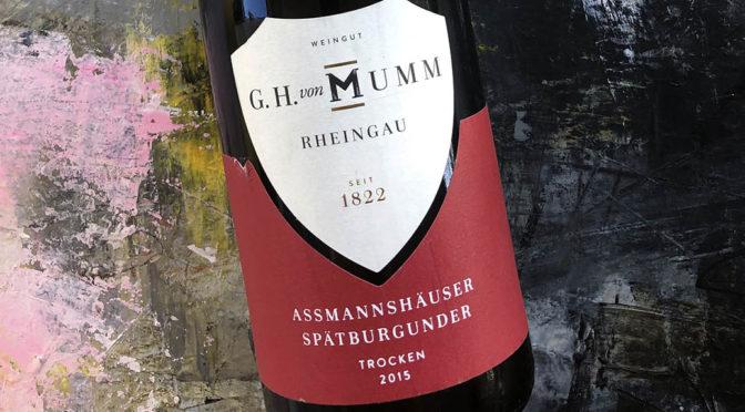 2015 Weingut G.H. von Mumm, Assmannshäuser Spätburgunder, Rheingau, Tyskland