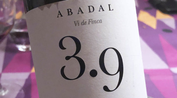 2015 Celler Abadal, Estate Wine Abadal 3.9, Catalonien, Spanien