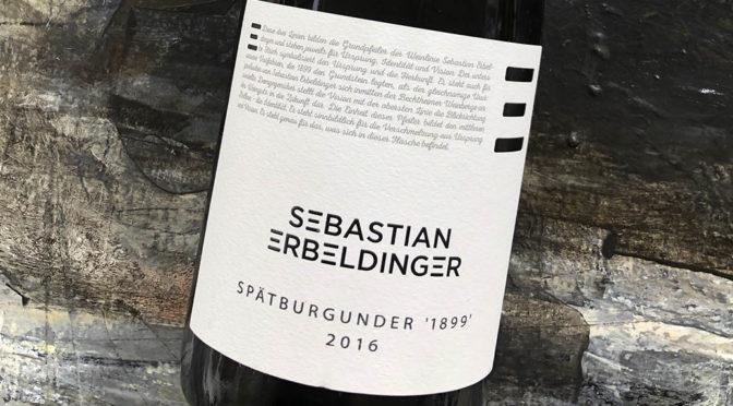 2016 Weingut Sebastian Erbeldinger, Spätburgunder 1899 Trocken, Rheinhessen, Tyskland