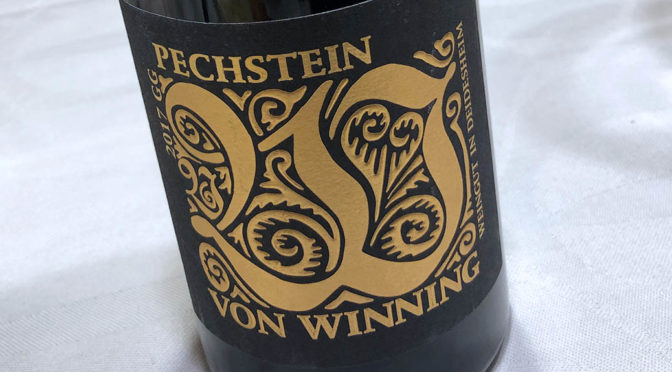 2017 Weingut Von Winning, Forster Pechstein Riesling GG, Pfalz, Tyskland