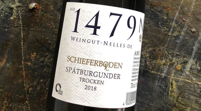 2018 Weingut Nelles, Schieferboden Spätburgunder Trocken, Ahr, Tyskland