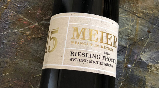 2015 Weingut Meier, Weyherer Michelsberg Riesling Trocken, Pfalz, Tyskland