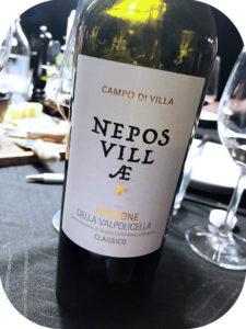 2013 Nepos Villae, Campo di Villa Amarone of Valpolicella Classic, Veneto, Italien