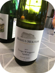 2017 Weingut Markus Molitor, Ürziger Würzgarten Riesling Spätlese, Mosel, Tyskland