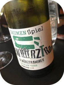 2016 Peter Mertes KG Weinkellerei, Gewürztraminer Gaumen Spiel Lieblich, Rheinhessen, Tyskland