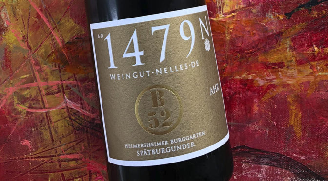 2017 Weingut Nelles, Heimersheimer Burggarten Spätburgunder B52 GG, Ahr, Tyskland