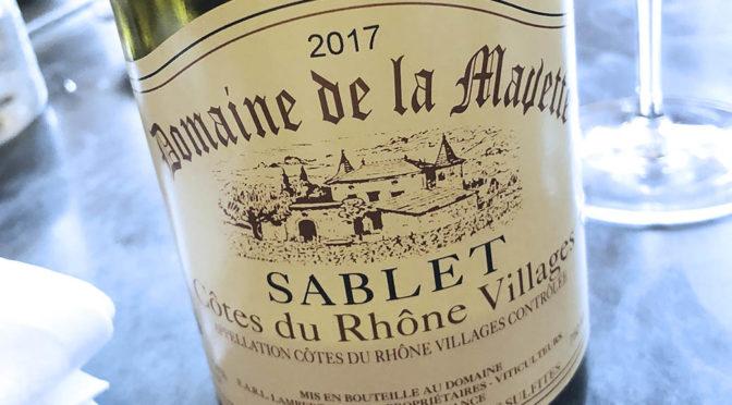 2017 Domaine de la Mavette, Côtes du Rhône Villages Sablet, Rhône, Frankrig