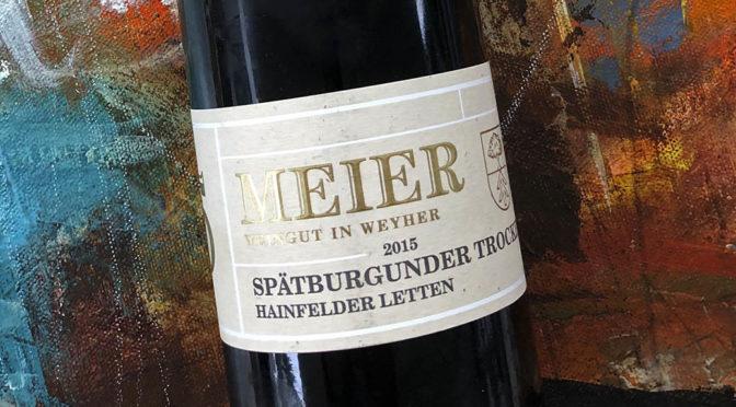 2015 Weingut Meier, Hainfelder Letten Spätburgunder, Pfalz, Tyskland