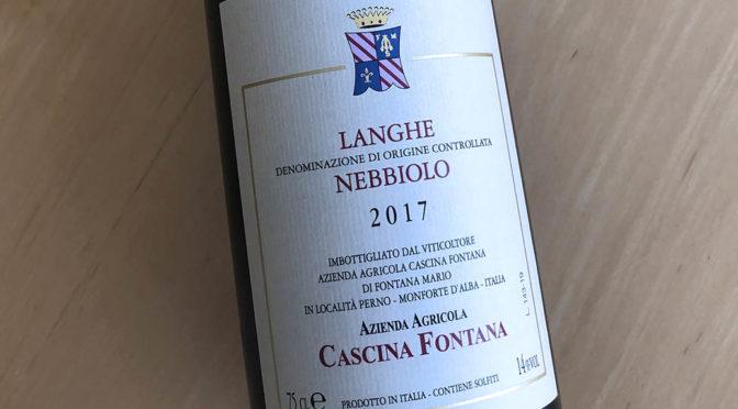 2017 Cascina Fontana, Langhe Nebbiolo, Piemonte, Italien