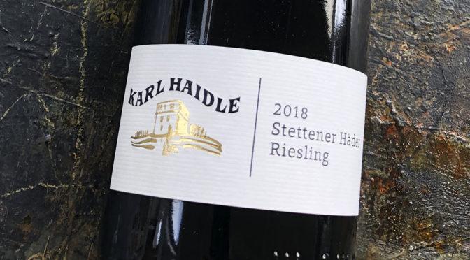 2018 Weingut Karl Haidle, Stettener Häder Riesling, Württemberg, Tyskland