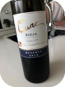 2010 Compañía Vinícola del Norte del España, Cune Reserva, Rioja, Spanien