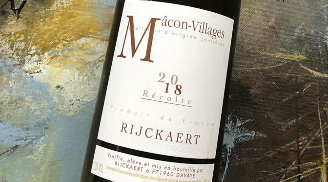 2018 Jean Rijckaert, Mâcon-Villages, Bourgogne, Frankrig