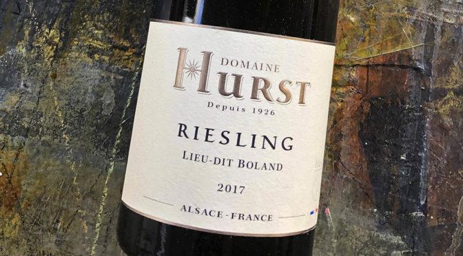 2017 Domaine Armand Hurst, Riesling Lieu-dit Boland, Alsace, Frankrig
