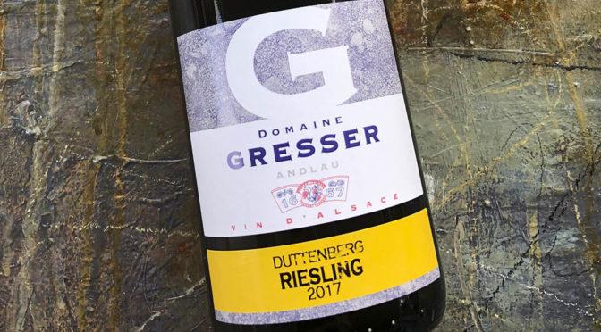 2017 Domaine Rémy Gresser, Riesling Lieu-dit Duttenberg, Alsace, Frankrig