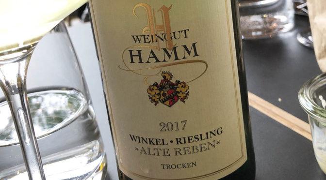 2017 Weingut Hamm, Winkel Riesling Alte Reben Trocken, Rheingau, Tyskland