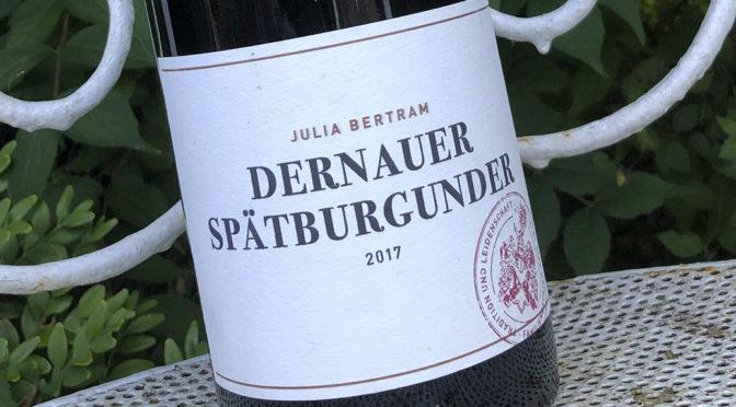 2017 Weingut Julia Bertram, Dernauer Spätburgunder, Ahr, Tyskland