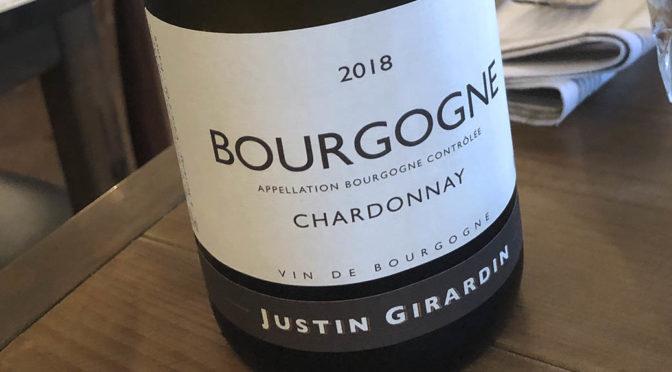 2018 Justin Girardin, Bourgogne Chardonnay, Bourgogne, Frankrig